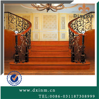 Classical hand-forged short handrail wrought iron stair railing