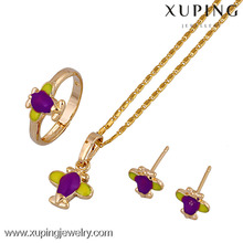 60501 New arrival children jewelry 18k gold color indian jewelry