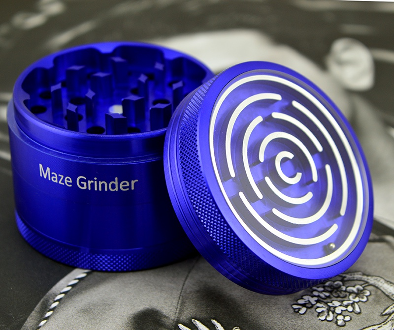 Smoking Accessories 63mm 4layers Maze herb grinder for tobacco