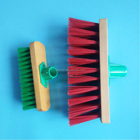 hard bristles house cleaning floor brushes from china with wooden base