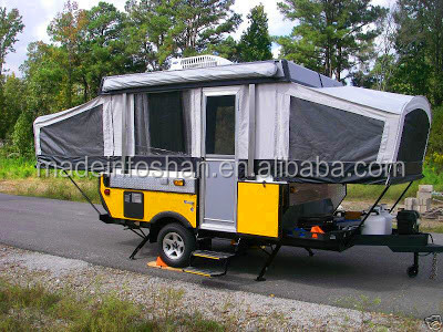 Professional Small Caravan With Pop Up Tent