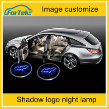Car LED Light 2pcs car door welcome ghost shadow logo night lamp led lights