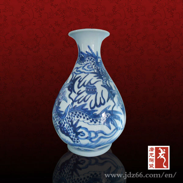Small Home Deco Antique Chinese Porcelain Vases Blue White