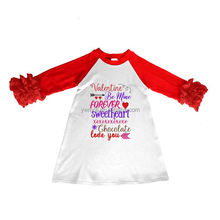 Little girls Valentines party dresses for 0-16 years old children long sleeve girls wear