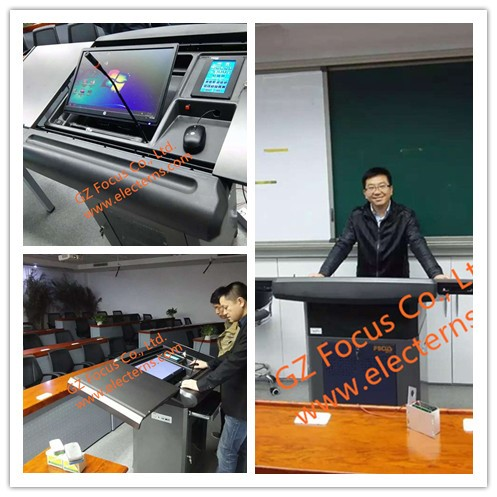 desk/table/computer table/multimedia podium/rostrum/lectern/kiosk/e-podium/smart podium