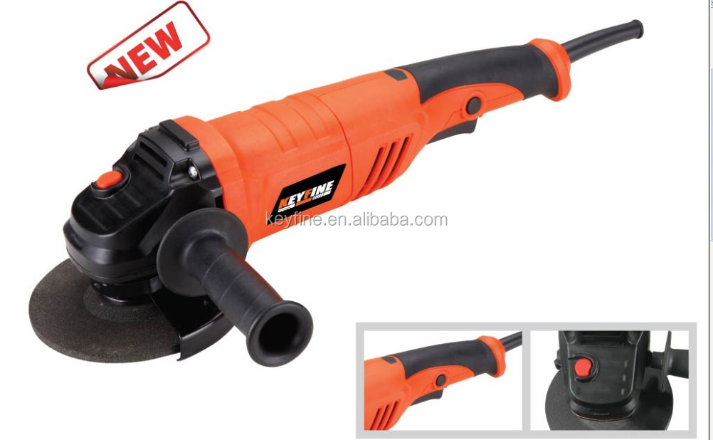 KEYFINE 1200w 125mm protect guard keyless guard angle grinder with long handle
