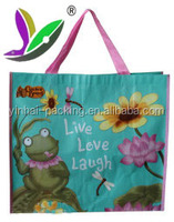 Wholesale promotional cheap custom foldable shopping recycle non woven bag