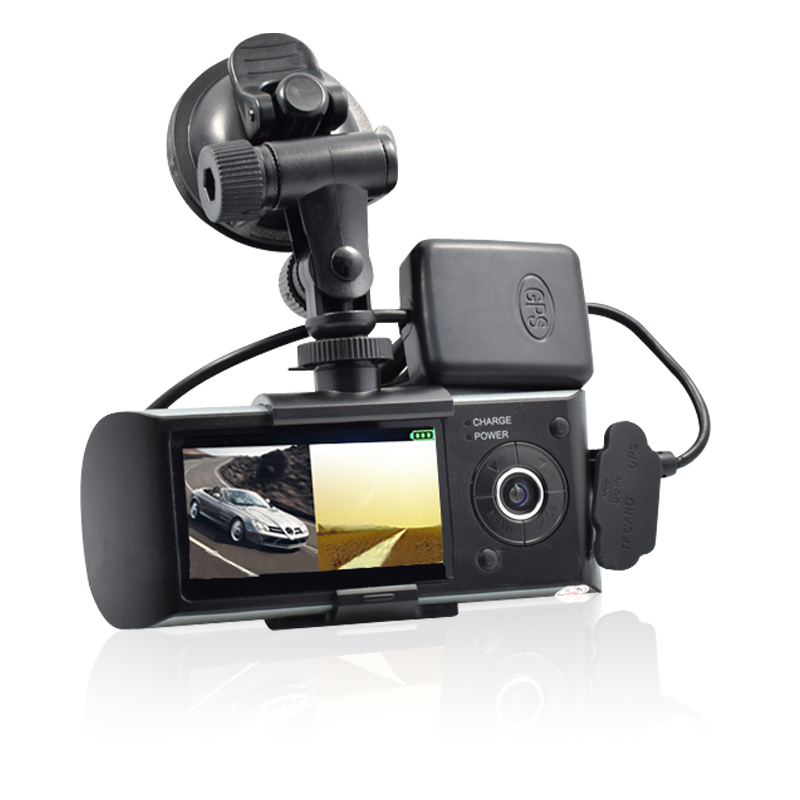 best sales car dvr X3000 daul lens car recorder with G-sensor