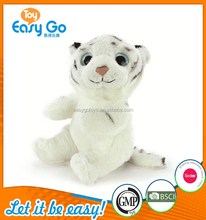 Lovely White Tiger Plush Toys With Golden Eyes