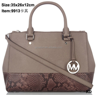 hot sale latest fashion designer branded handbags trendy women bags with Python Shoe women purses satchel