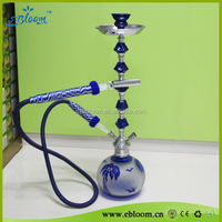 Glass beautiful modern hookah clear blue colour with light