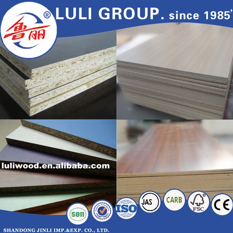 melamine particle board/plain particle board/particle board