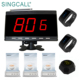 SINGCALL fast food restaurant wireless waiter call system