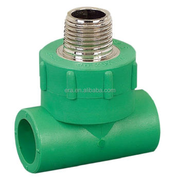 ERA PPR Male Thread Tee Fitting inserted brass ,DVGW Certificate