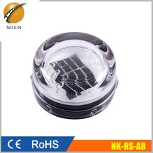Solar Led Light Cat Eye Round Small Tempered Glass Road Stud