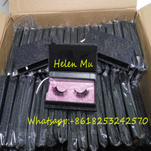 2018 New Style wholesale price private label 3D mink eyelash/human hair eyelash/faux mink