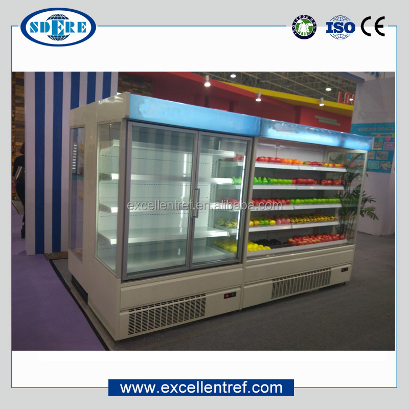 upright beverage/drink cooler showcase wth glass door for commercial use