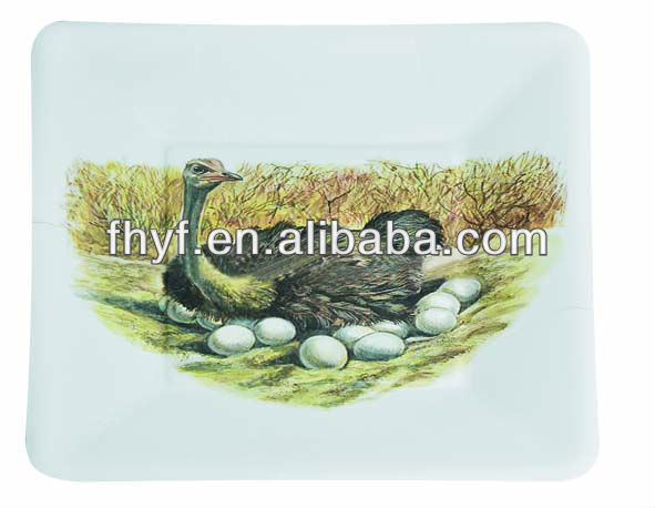 7.5inch square Bird design food grade wholsale paper plate
