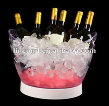 Premium plastic led ice bucket with multiple light color for party ,bar ,club , wedding
