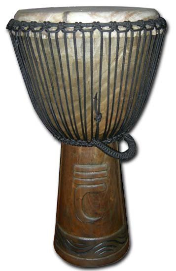 50cm Pro Series Djembe (Horn of War Carving) musical instruments