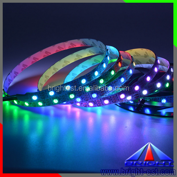 5m 60 Pixels/m 60leds Individually Addressable WS2812B WS2812 5050 RGB LED Strip 5V white PCB rgb led light strip