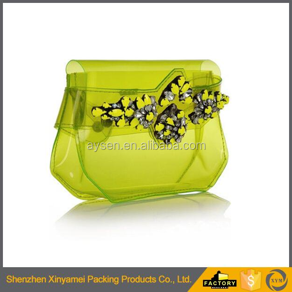 fashionable waterproof PVC jelly translucent summer handbag/translucent summer handbag/jelly bags handbags fashion