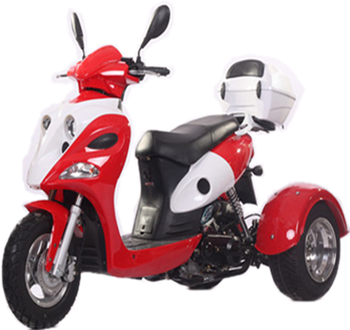50cc EEC 3wheels scooter/Tricycle motorcycle 50cc (TKM50E-3X)