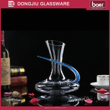 Dongjiu 1500ml Clear Led-free Crystal glass Wine Decanter with waterinfo drilled Handle