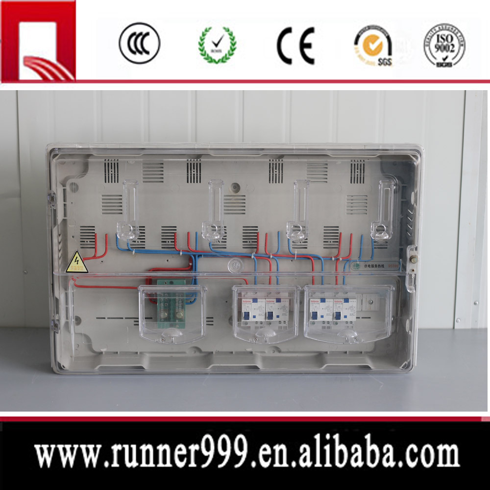 residential outdoor fireproof single phase electric meter box for tender