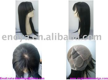 Super fine French lace silk base virgin hair full lace wig