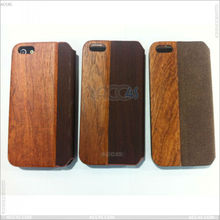 New design Wood grain protective Leather case for iphone5 P-IPH5CASE100