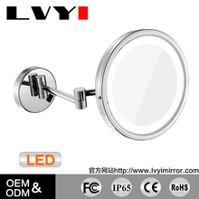 Newest selling bathroom one side decorative LED light wall mounted mirror