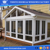 Open and flexible hardware curved glass sunrooms