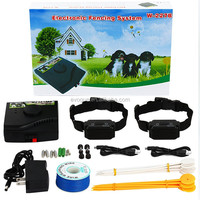 pet Wireless pet fence system W-227B w/ rechargeable &waterproof dog shock collar with 2 dogs
