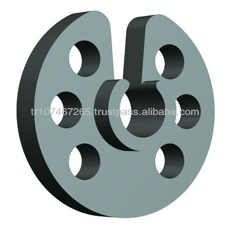 plastic wheel spacer for precast type concrete material