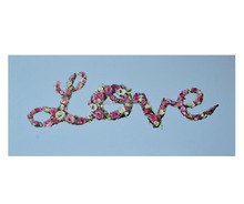 Floral Love Canvas Painting Hotel Wall Art Decor