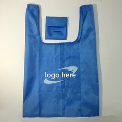 Promotional foldable polyester shopping bag