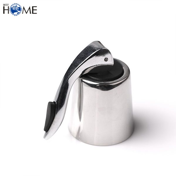 Stainless Steel Vacuum Sealed Red Wine Storage Bottle Stopper Keeps Wine Bottle Cap Closed Home Bar Tool