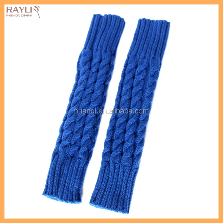 2016 Wholesale Custom Order HIGH QUALITY Winter Warm Cable Knit Long Arm Sleeves