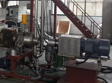 underwater pelletizing machine for plastic melt