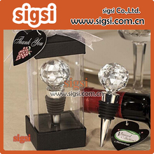 Crystal Ball Wedding Wine Bottle Stoppers For Wedding Souvenirs