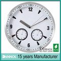 Dannol New products aluminium dial weather station wall clock with temperature and hygrometer