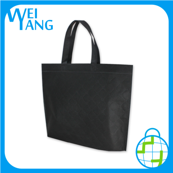 Non Woven polyester bag custom logo foldable shopping hand polyester bag