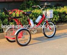lithium battery adult electric pedicab cargo rickshaw for sale usa 250w/350w with child seat attachment