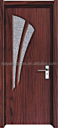 Europe interior PVC MDF wooden glass bathroom <strong>door</strong>