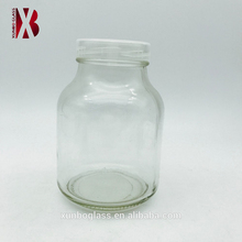 Transparent plant vessel 650ml glass tissue culture jar with plastic screw breathable top lid