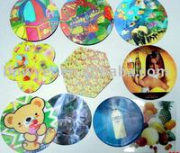 promotional 3D lenticular coaster
