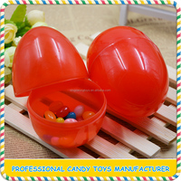 Fancy chocolate decorative plastic easter colorful eggs