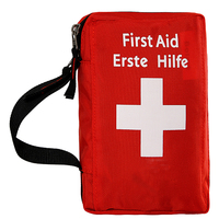 CE ISO FDA Approved KF57 Small Size Red Nylon medical kit first aid pouch