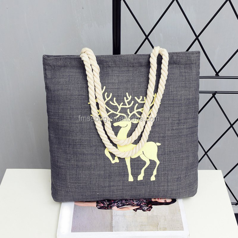 New Popular Western Style Ladies Cotton Tote Bag Lady Handbags